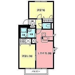 ロイヤルパレスII[1階]の間取り