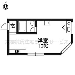 七条ビル[202号室]の間取り