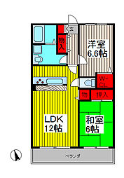プラセール上青木[1階]の間取り