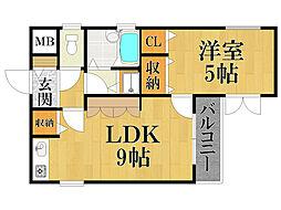 ベル甲子園口パート3[2階]の間取り