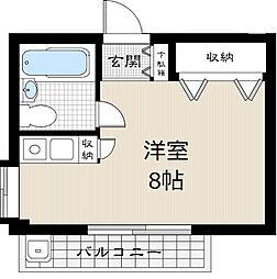 上野桜木パークサイドプラザ[301号室]の間取り