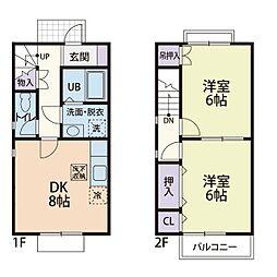 [テラスハウス] 神奈川県厚木市下荻野 の賃貸【/】の間取り