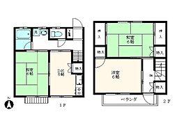 [テラスハウス] 東京都青梅市河辺町6丁目 の賃貸【東京都 / 青梅市】の間取り