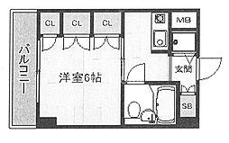エクレーヌ御池[504号室号室]の間取り