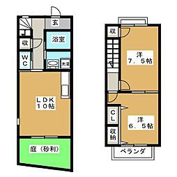 [テラスハウス] 三重県鈴鹿市平野町 の賃貸【/】の間取り