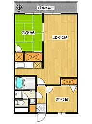 笹コーポ戸田[4階]の間取り