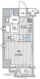 サイプレス御成門 CYPRESS ONARIMON(サイプレ 6階1Kの間取り