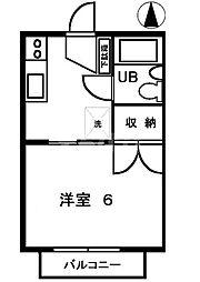 東京都江戸川区東葛西4の賃貸アパートの間取り