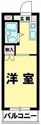 ハイタウン羽田[1階]の間取り