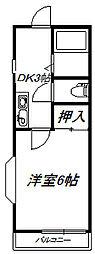 プランドール参番館[2階]の間取り