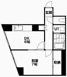 北海道札幌市白石区本通9丁目北の賃貸マンションの間取り