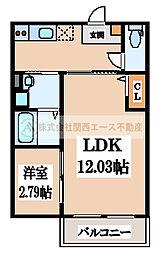 CASA VIVACE 北野田(カーサ ヴィヴァーチェキタノダ)[1階]の間取り