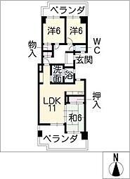 NAVI CITY新岐阜204[2階]の間取り