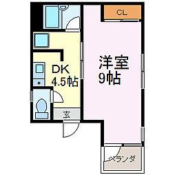 エスプリ千代田[5A号室]の間取り