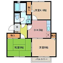 シャトル新田B[2階]の間取り