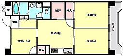 兵庫県神戸市中央区港島中町2丁目の賃貸マンションの間取り