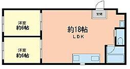 ランドフォレスト川崎浜町[1階]の間取り