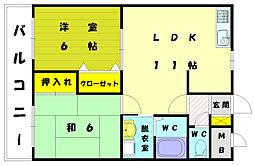 ファインコーポ汐井[1階]の間取り