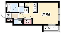 ミリアーデ覚王山 1階ワンルームの間取り