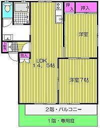 モトムス D棟[2階]の間取り