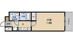 セイワパレス堂島シティ[7階]の間取り