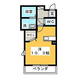 レーヴ算所[2階]の間取り