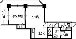 PRIME URBAN札幌 RIVER FRONT[02211号室]の間取り