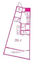 インフィールド溝口[3階]の間取り