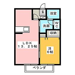 パストラル三番館[2階]の間取り
