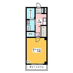 グラニート・テンA館[2階]の間取り