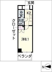 AMBER HOUSE[7階]の間取り