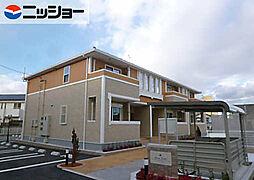 愛知県西尾市上矢田町庄衛山の賃貸アパートの外観