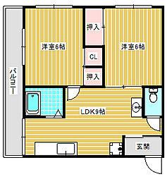 まつよしマンション[402号室]の間取り