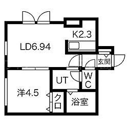 アユミリオン2・6[3階]の間取り
