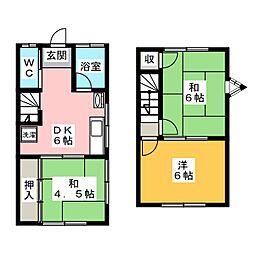 [テラスハウス] 愛知県江南市木賀本郷町東 の賃貸【愛知県 / 江南市】の間取り