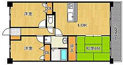 フォレスト・ヴィラ平尾山荘[5階]の間取り