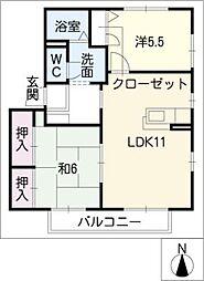 クレールK[2階]の間取り