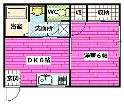 広島県安芸郡海田町昭和中町の賃貸アパートの間取り