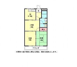 愛知県一宮市三条字ヱグロの賃貸マンションの間取り