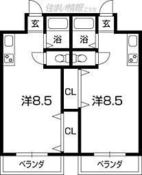 昌世マンションI[102号号室]の間取り