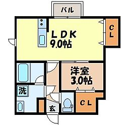 camminoIII 1階1LDKの間取り