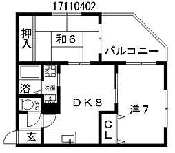 メゾンドルナ[4階]の間取り