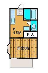 ファミーユ柿生[2階]の間取り