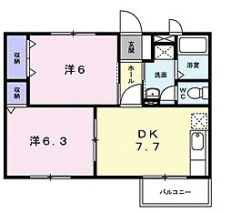 スプリングガーデン[2階]の間取り