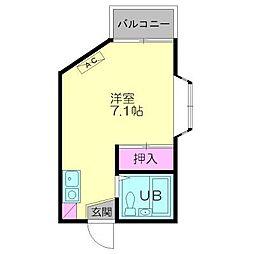 サンライズ西横浜[201号室号室]の間取り
