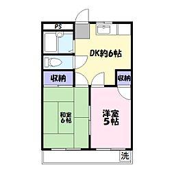 柳島共和ビル[202号室]の間取り
