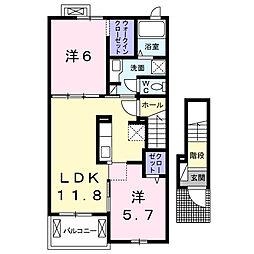ハピネス・ベルA[2階]の間取り