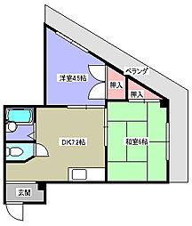 Mプラザ津田駅前2番館[4階]の間取り