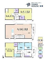 江戸川区松島3丁目 2SLDKの間取り
