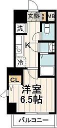 TREACE枝川 4階1Kの間取り